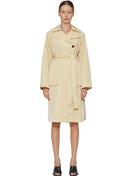 Aalto Tailored Nylon Trench Coat Beige