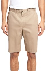 Nordstrom Big And Tall Shop Flat Front Supima Cotton Shorts Tan Desert