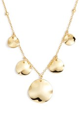 Argentovivo Argento Vivo Flat Disc Drop Necklace Gold