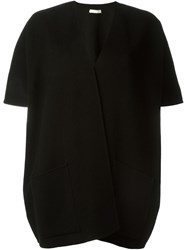 P.A.R.O.S.H. Shortsleeved Cocoon Coat Black
