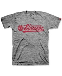 Element Men's Graphic Print T Shirt Grey Heather
