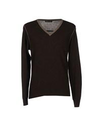 Gold Case By Rocco Fraioli Knitwear Jumpers Men Dark Brown
