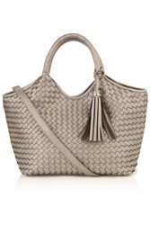 Oasis Pewter Woven Maddie Tote Silver Silverlic