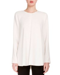 Proenza Schouler Long Sleeve Side Tie Crepe Blouse Black