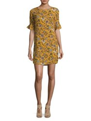 Molly Bracken Floral Bell Sleeve Dress Saffron