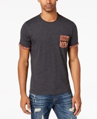 American Rag Men's Diamond Stripe Pocket T Shirt Created For Macy's Heathered Grey