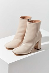 Urban Outfitters Sloane Seamed Patent Leather Ankle Boot Natural
