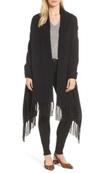 Halogen Cashmere Wrap Black