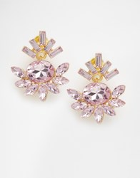 Johnny Loves Rosie Dee Jewel Blush Through Through Earrings Gold