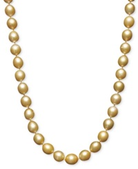 Macy's Pearl Necklace 18' 14K Gold Cultured Golden South Sea Pearl Strand