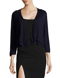 Tommy Hilfiger Lace Hemmed Cardigan Navy