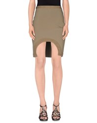 Givenchy Skirts Knee Length Skirts Women Military Green
