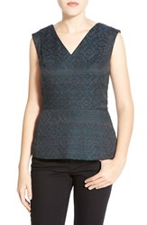 Petite Women's Halogen V Neck Peplum Top