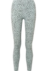 Varley Bedford Printed Stretch Leggings Sky Blue