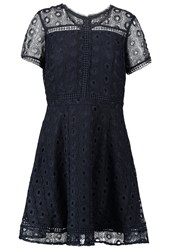 Warehouse Summer Dress Navy Dark Blue