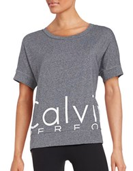 Calvin Klein Logo Athletic Top Black Heather