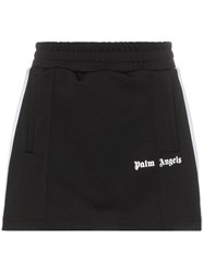 Palm Angels Racing Stripe Logo Mini Track Skirt Black