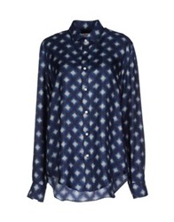 Salvatore Piccolo Shirts Dark Blue