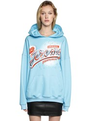 Jeremy Scott Hooded Cotton Jersey Sweatshirt