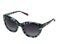 Betsey Johnson Crystal Round Cat Aqua Fashion Sunglasses Blue