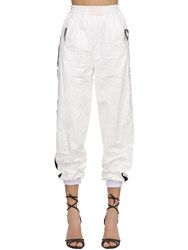Fiorucci Track Pants With Satin Side Bands White