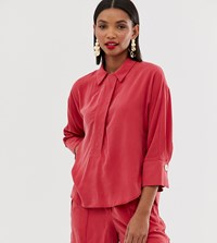 Mango V Neck Blouse Co Ord In Red