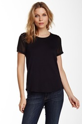 Dex Sheer Racerback Tee Black