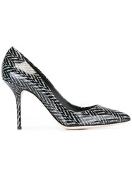 Dolce And Gabbana Tweed Print Pumps Black