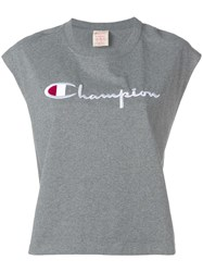 Champion Oversized Tank Sweatshirt Grey