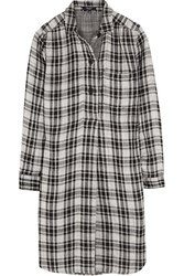 Madewell Jane Plaid Cotton Flannel Mini Dress Black