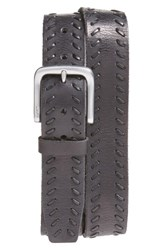 John Varvatos Men's Star Usa Laced Leather Belt