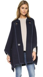See By Chloe Oversized Cape Coat Navy