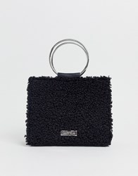 Carvela Flawless Circle Handle Tote In Black