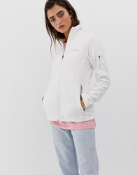 Columbia Fast Trek Ii Fleece Jacket In White Grey