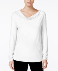 Bar Iii Cowl Neck Top Only At Macy's Washed White