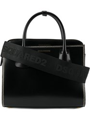 Dsquared2 Satchel Bag With Topstitching Detail Black