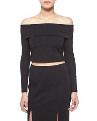 Nicholas Long Sleeve Crop Top Black