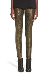 Women's Hue Metallic Python Print Ponte Leggings