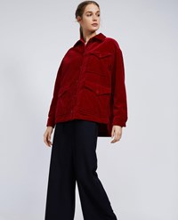 Aspesi Cotton Corduroy Blouson Red