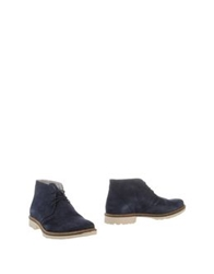 Bage Ankle Boots Dark Blue