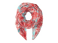 Lilly Pulitzer Lillian Scarf Shorely Blue Biggest Fan Scarves Pink