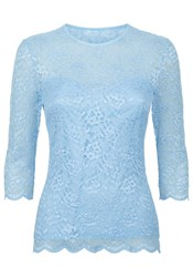 Damsel In A Dress Bern Lace Top Light Blue
