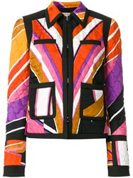 Emilio Pucci Quilted Printed Jacket Women Silk Cotton Polyester Spandex Elastane 38