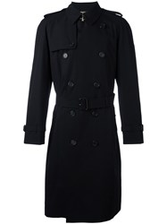 Burberry Medium Westminster Trench Coat Black
