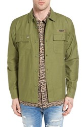 Obey Men's Mission Military Shirt Jacket