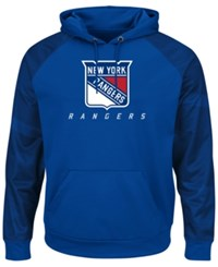 Majestic Men's New York Rangers Penalty Shot Synthetic Hoodie Navy