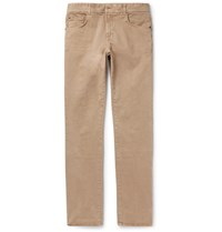 Boglioli Slim Fit Washed Stretch Denim Jeans Brown