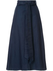 Tibi Denim Wrap Skirt 60