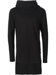 Alchemy Cowl Neck T Shirt Black