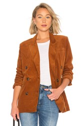 Blank Nyc Double Breasted Corduroy Jacket Cognac